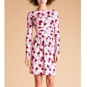 Leota Heirloom Whimsy Rose Ruched Boatneck Dress